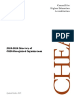 2015-2016 Directory of CHEA Recognized Organizations