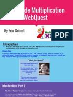 3rd grade multiplication webquest  1