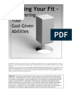 Finding Your Fit - Discovering Your God-given Abilities