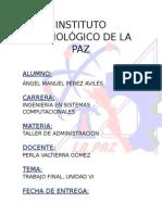 Trabajo Final (Ángel Pérez)