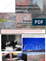Progress of Japanese Policy on the Acceptance of Highly Skilled Human Resources
