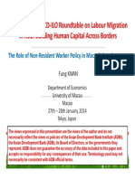 The Role of Non-Resident Worker Policy in Macao's Development