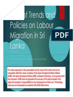 Recent Trends and Policies on Labour Migration in Sri Lanka