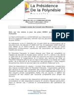 Compte Rendu Du Conseil Des Ministres Du Mercredi 2 Décembre 2015