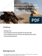 US-European Security Relationship During and After the Iraq