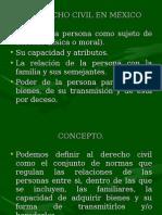 El Derecho Civil en México