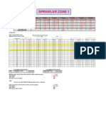 Automatic Irrigation Calculation Sheet