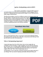 HDFS Checkpointing