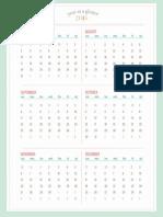 Calendario Julio Dic 21016