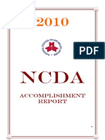 2010 NCDA Accomplishment Report 1