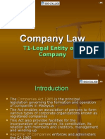 Company Law-Legal Entity of a Company