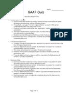 Gaap Quiz