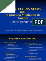 Urgentele Orl Prof Dr. Codrut Sarafoleanu