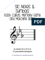 Music Notes Symbols Flash Cards Printables FINAL