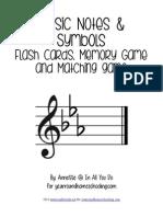 Music Notes Symbols Flash Cards Printables FINAL