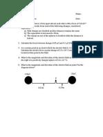electric field simplified worksheet
