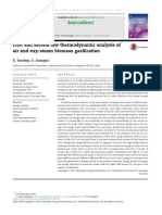 First and Second Law Thermodynamic Analysis of%0Aair and Oxy-steam Biomass Gasification