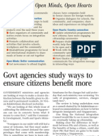 Govt agencies study ways to ensure citizens benefit more