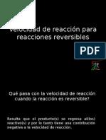 Velocidad de Reacción Para Reacciones Reversibles