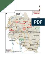 Flood Affected Areas in Uttarakhand