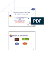 20151111 subventions for industry romania 2014 2020