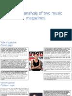 Textual Analysis of Two Music Magazines