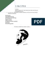 Psykologi 1 Tis 17 Nyckelord