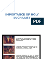 Importance of Holy Eucharist