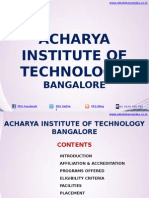 Acharya Institute of Technology Bangalore|MBA|AIT