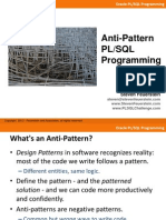 Anti-Pattern PLSQL Programming