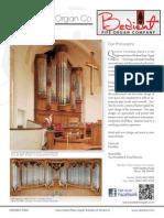 Prospectus Bedent Pipe Organ Co
