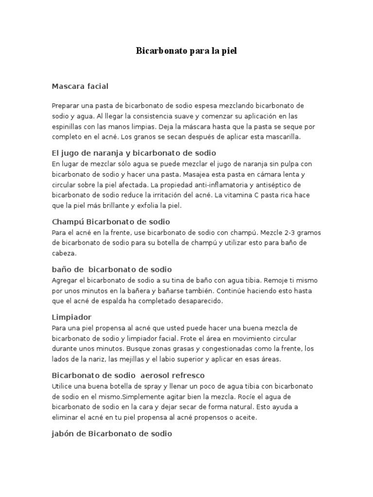 bicarbonato para la piel - Banos De Tina Con Bicarbonato De Sodio