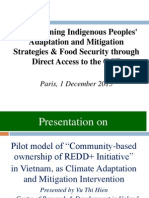 Strengthening Indigenous Peoples' Adaptation and Mitigation Strategies