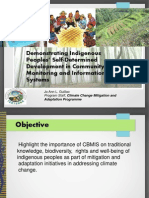 Demonstrating Indigenous Peoples' Self-Determined Development