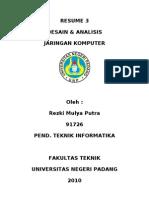 Desain & Analisis JarKom (Resume 3)