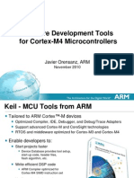 AteTools for Cortex-M4 The Cortex-M3 and Cortex-M4 processors are two of the products in the ARM Cortex-M processor family. The whole Cortex-M processor family is shown in Figure 1.1. The Cortex-M3 and Cortex-M4 processors are based on ARMv7-M architecture. Both are high-performance processors that are designed for microcontrollers. Because the Cortex-M4 processor has SIMD, fast MAC, and saturate arithmetic instructions, it can also carry out some of the digital signal processing applications that traditionally have been carried out by a separate Digital Signal Processor (DSP).