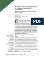 Avaliação Qualitativa e Quantitativa Do Reuso de Aguas de Cinzas Em Edificações