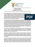Swap Transaction-Media Statement
