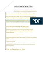 Como Criar Formulários No Excel