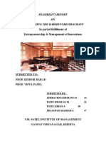 14142906 Feasibility Report on Restaurant