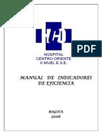 Manual de Indicadores de Eficiencia