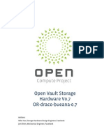 Open Compute Project Open Vault Storage Specification