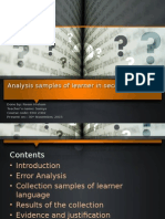 analysis of learner language