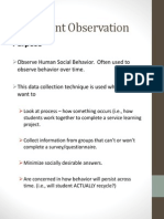 Participant Observation Data Collection