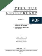 Blatter Fur Angewandte Okkulte Lebenskunst 1951