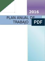 Plan Anual de Trabajo 2016 (modelo)
