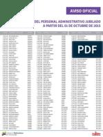Lista de Personal Administrativo Jubilados ME Octubre 2015 - Notilogía