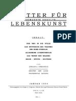 Blatter Fur Angewandte Okkulte Lebenskunst 1954