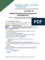Leccion 01 Revision Del Proyecto de Investigacion (1)