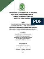 Bosquejo Plan de Negocio Para Empresa de Manualidades Con Reciclaje